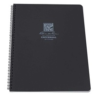 "Rite in the Rain Side-Spiral Waterproof Notebook | Black, 8.5"" x 11"""