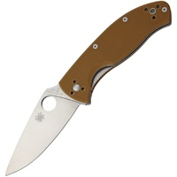 Spyderco Tenacious G-10 Folding Knife (Brown)