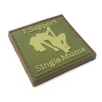 I SUPPORT SINGLE MUMS PVC MORALE PATCH