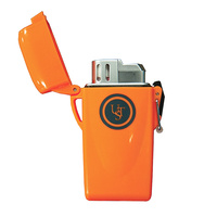 Ultimate Survival Orange Floating Lighter | Waterproof, Windproof Flame, Impact Resistance, WG01527