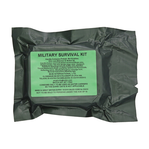 BCB International Military Survival Kit | 22 Items, Water Resistant Tin, BUS019