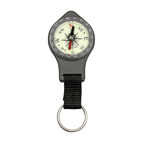 "Explorer Keyring Compass | 4"" Overall, Nylon Lanyard with Keyring, EXP46"