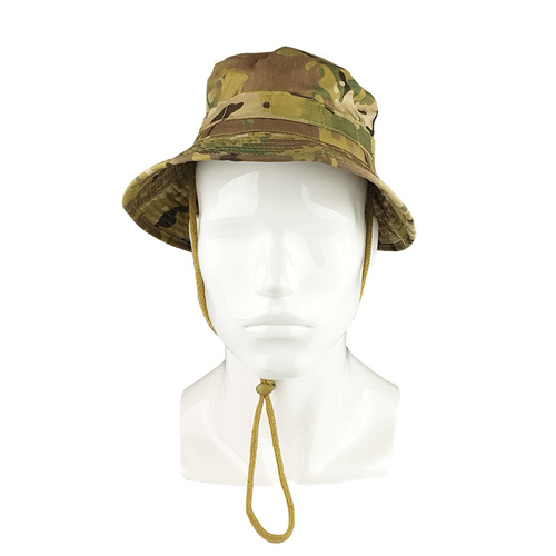 Huss Tactical Giggle Hat Multicam | Camouflage Inserts, Chin Strap with Toggle, HMH0304