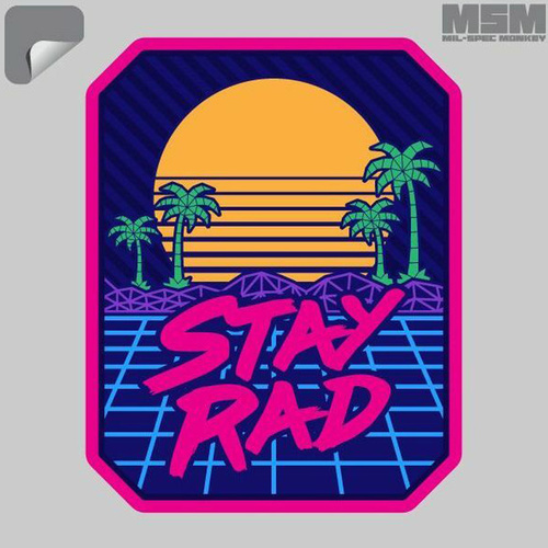 MSM Stay Rad Decal - Full Colour