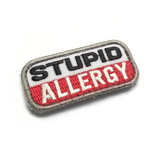 MSM Stupid Allergy Woven Morale Patch - Medical