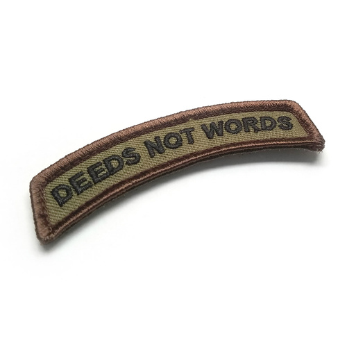 MSM Deeds Not Words Morale Patch - Forest