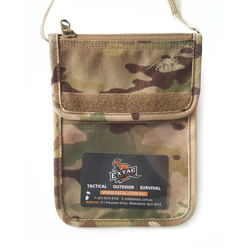 Tasmanian Tiger Large ID Holder Neck Pouch | Multicam, Cordura, 60g